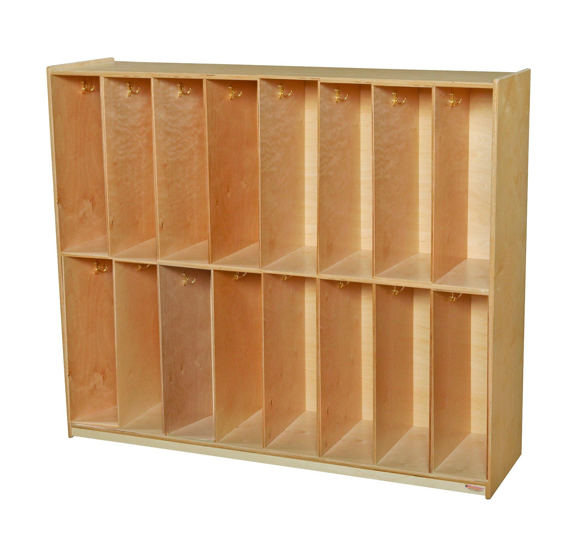 Wood Designs 51216 Sixteen Section Locker, 49'' Height, 52'' Width, 18'' Length