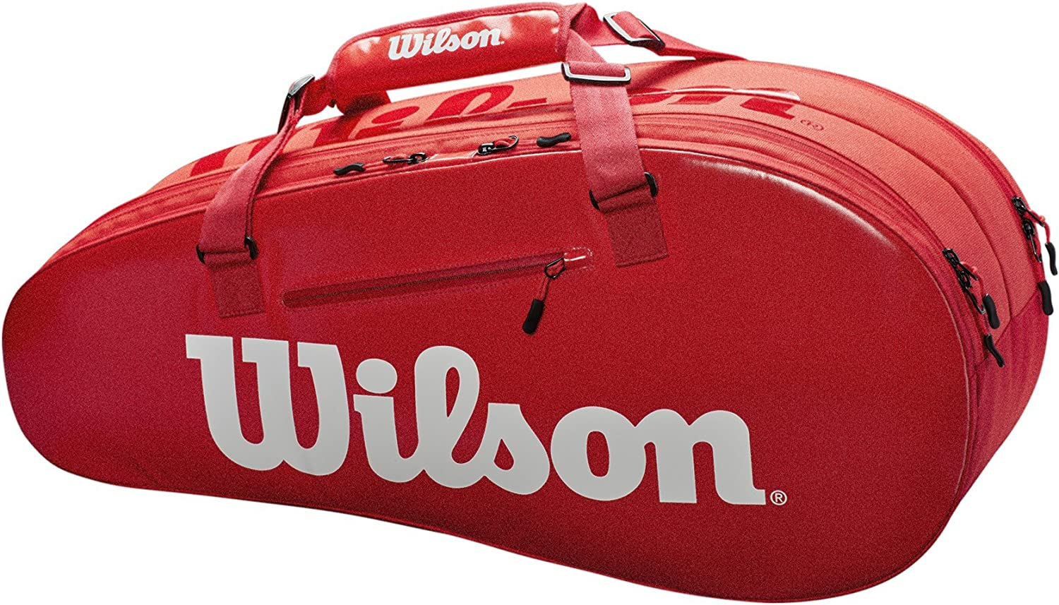 Wilson Super Tour 2 Compartment Large - Red/White : Sports & Outdoors