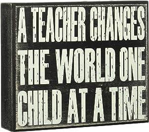 JennyGems - A Teacher Changes The World One Child at A Time - For Teachers, Teacher Appreciation Teacher Gift, Gifts for Teachers, End of Year Present, Teacher Signs, Educator