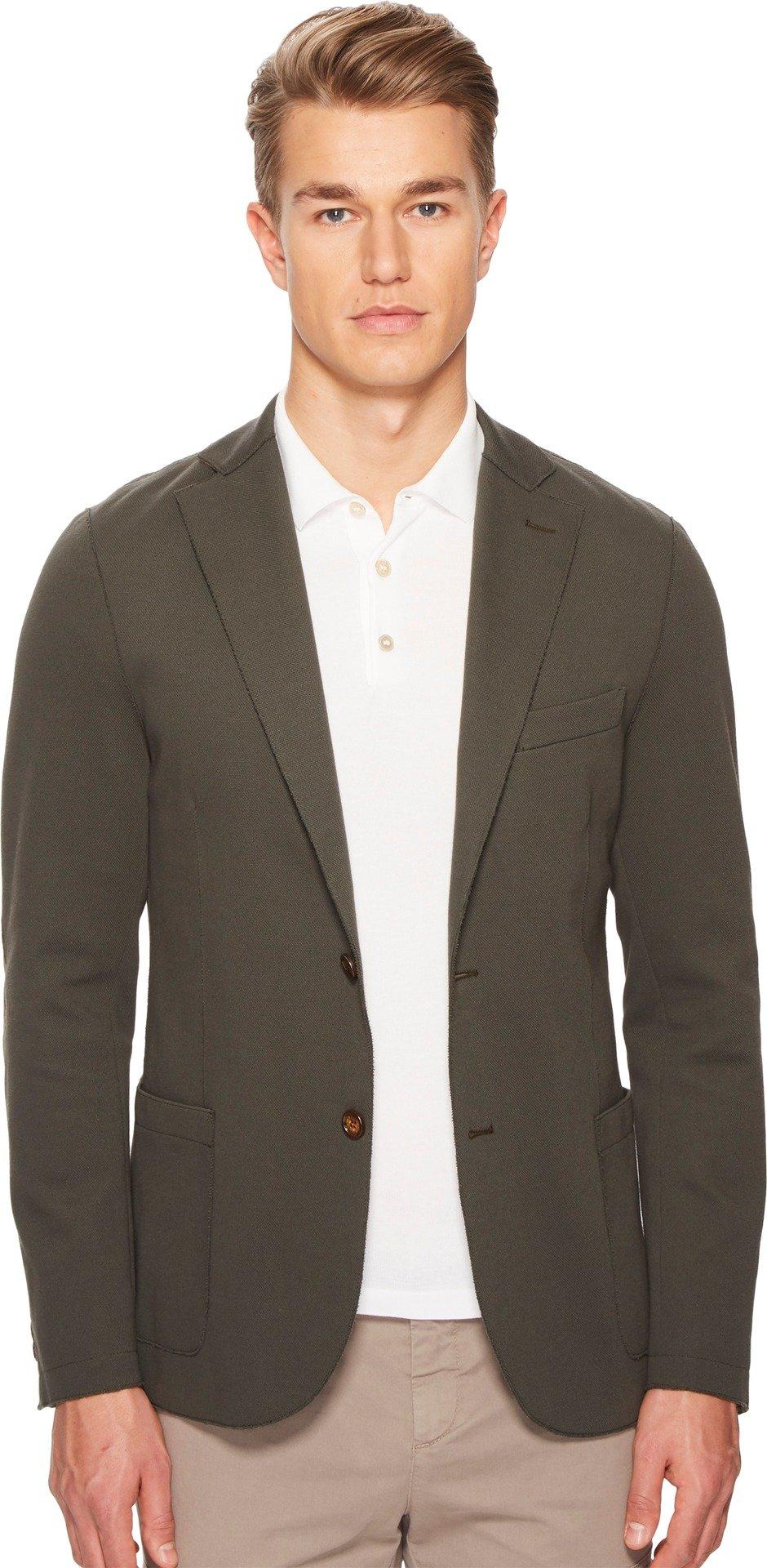 Eleventy Men's Laser Cut Jersey Blazer Green 52