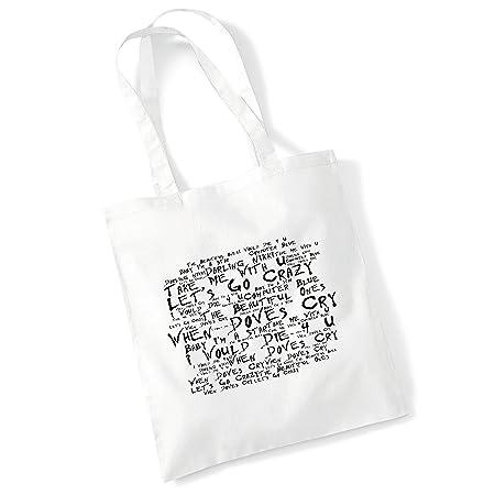 Art Studio Tote Bag NOEL GALLAGHERS HIGH FLYING BIRDS Lyrics Poster Shopper Gift