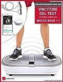 VINCITORE TEST Sportstech VP300 pedana vibrante professionale con 3D Spiral Vibration Technology + Bluetooth musica + enorme battistrada + 2 potenti motori + impareggiabili design + formazione nastri