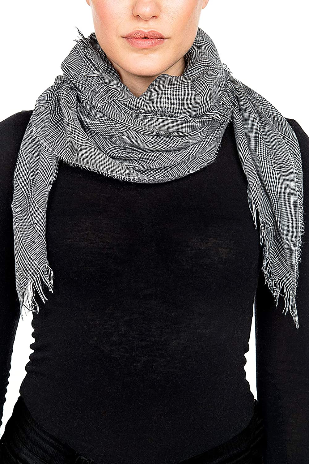 276b115a8 GIULIA BIONDI 100% made in Italy Organic Cashmere Blend Scarf Square Shawl  Wrap Soft Warm Lightweight for Women and Men at Amazon Men's Clothing store: