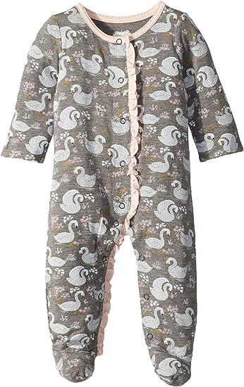 4adb961dff Amazon.com  Mud Pie Womens Swan Long Sleeve Sleeper (Infant)  Clothing