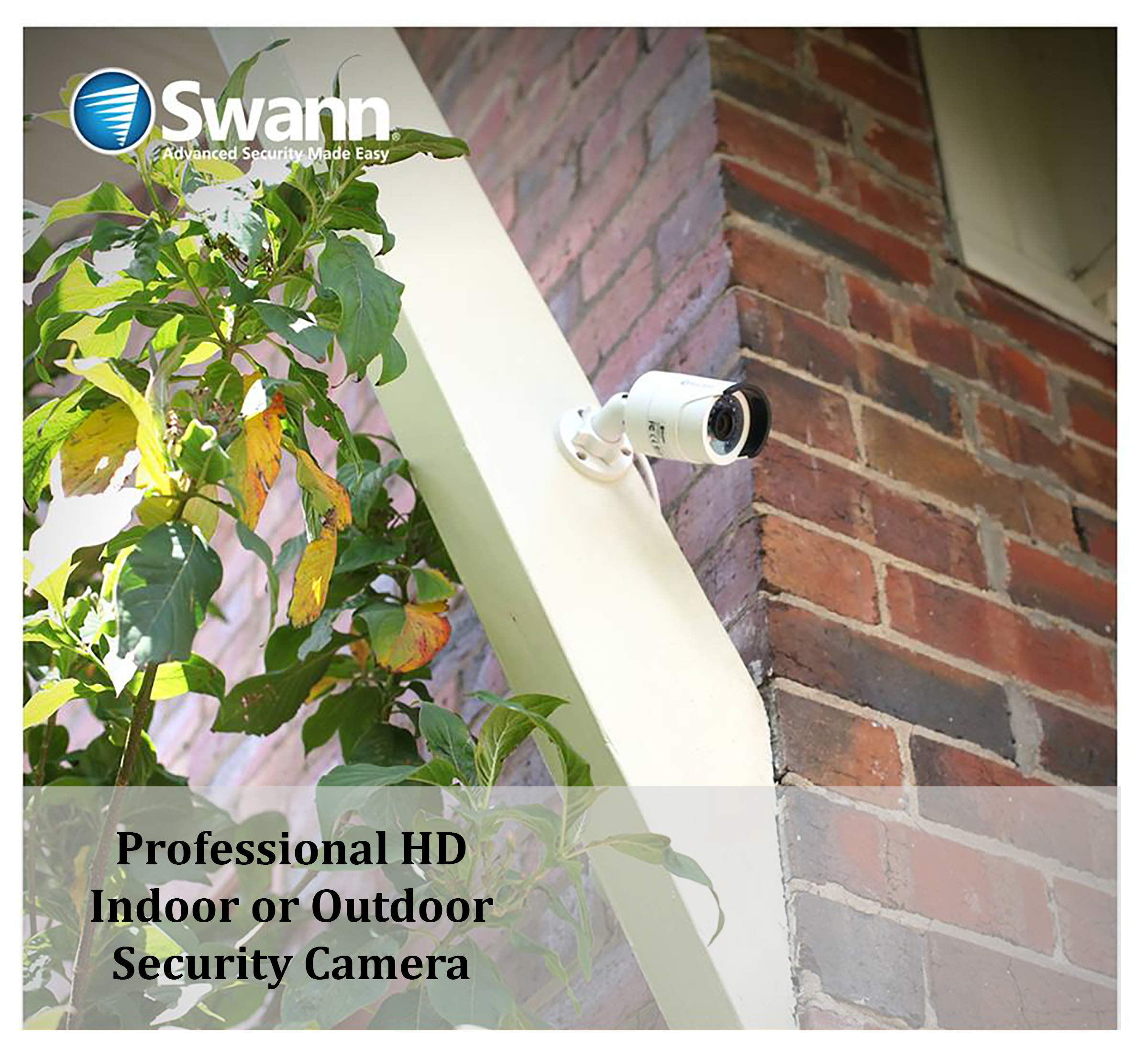 Swann PRO-T852 1080p Multi-Purpose Day/Night Security Camera with Night Vision up to 100 ft / 3m - 4-Pack