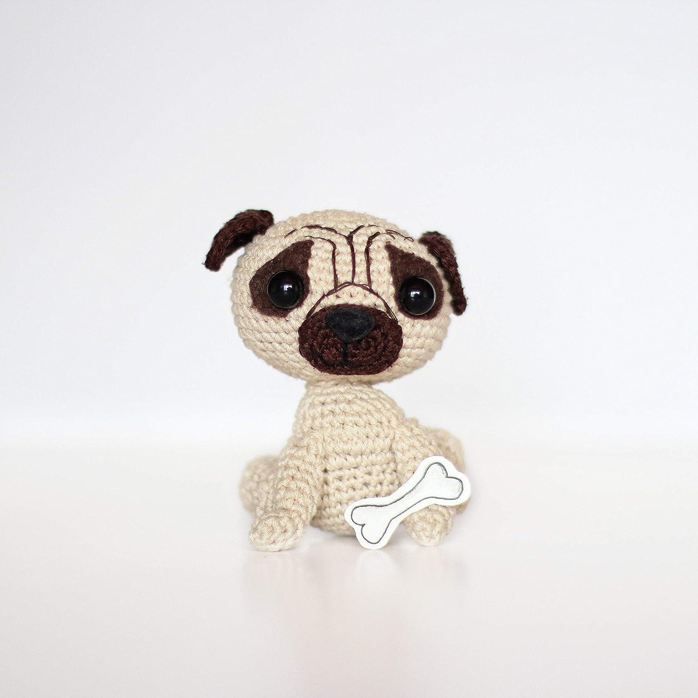 PATTERN crochet PUG pdf tutorial puppy toy pattern how crochet pug ... | 1500x1500