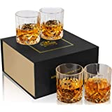 KANARS Old Fashioned Whiskey Glasses with Luxury Box - 10 Oz Rocks Barware For Scotch, Bourbon, Liquor and Cocktail Drinks -
