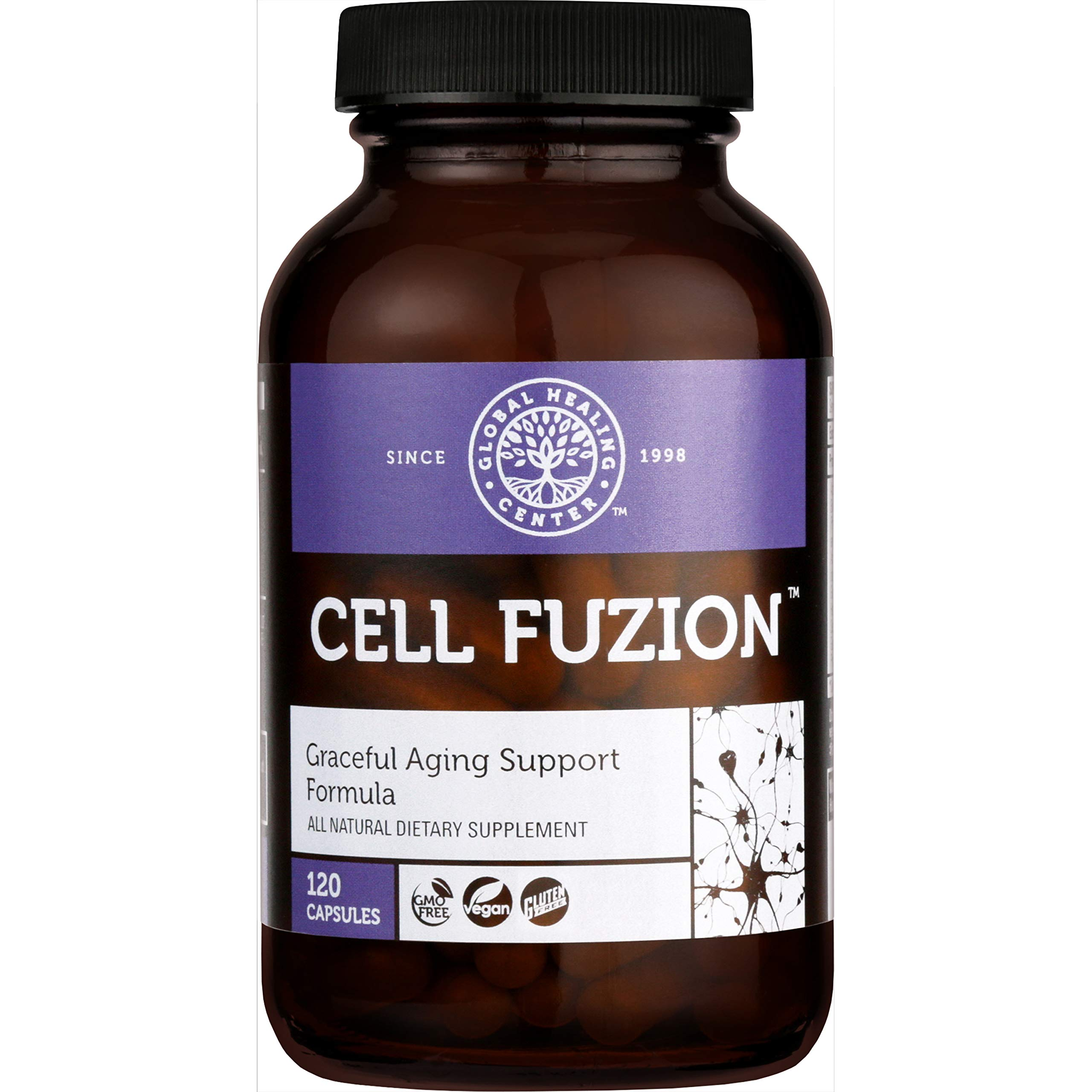 Global Healing Center Cell Fuzion Advanced Antioxidant Formula, 120 Capsules by Global Healing Center