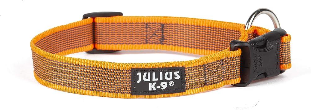 Julius-K9 Color & Gray Collar, 25 Mm (39-65 Cm), Naranja-Gris ...