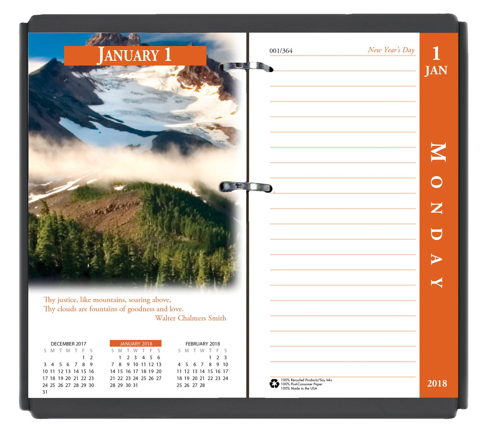House of Doolittle 2018 Desk Calendar Refill, Daily, Earthscapes, Fits #17 Base, 3.5 x 6 Inches, January - December (HOD417-18) by House of Doolittle
