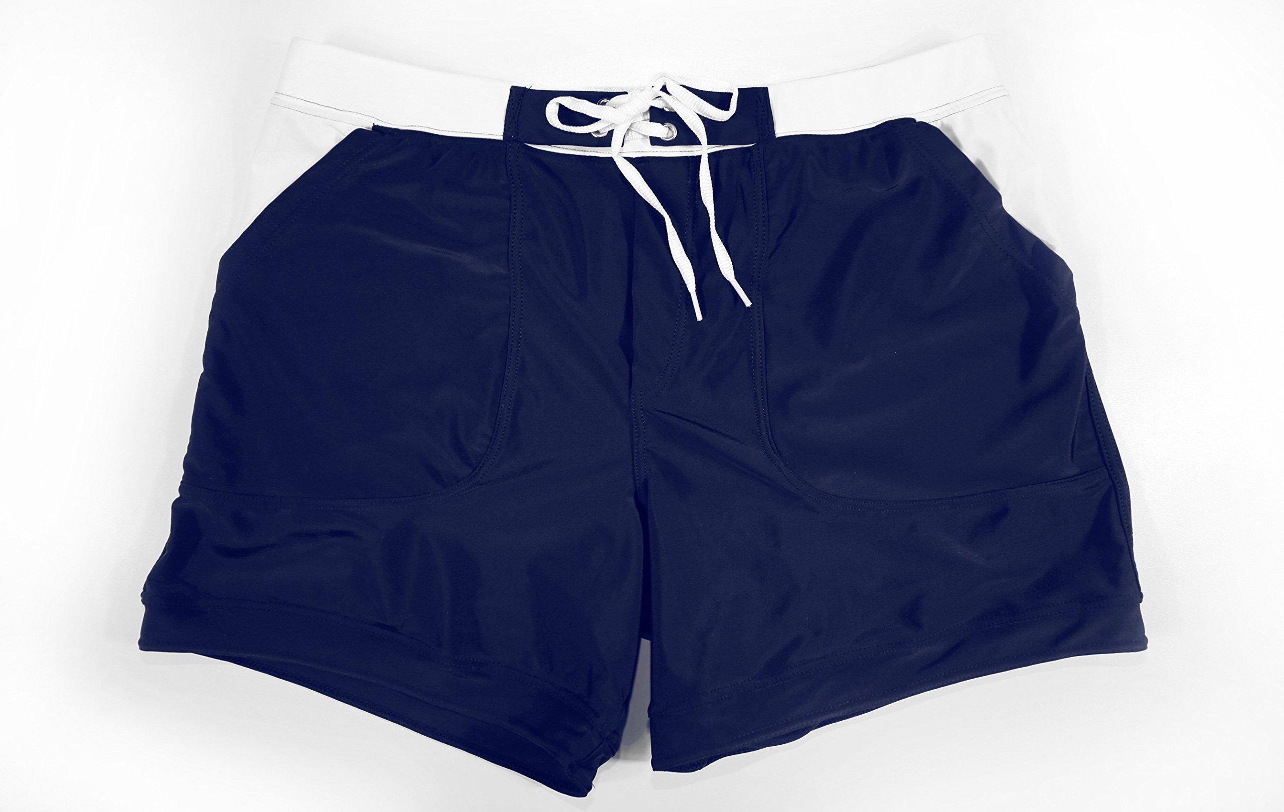 TADDLEE Men Swimwear Swimsuits Solid Basic Long Swim Boxer Trunks Board Shorts