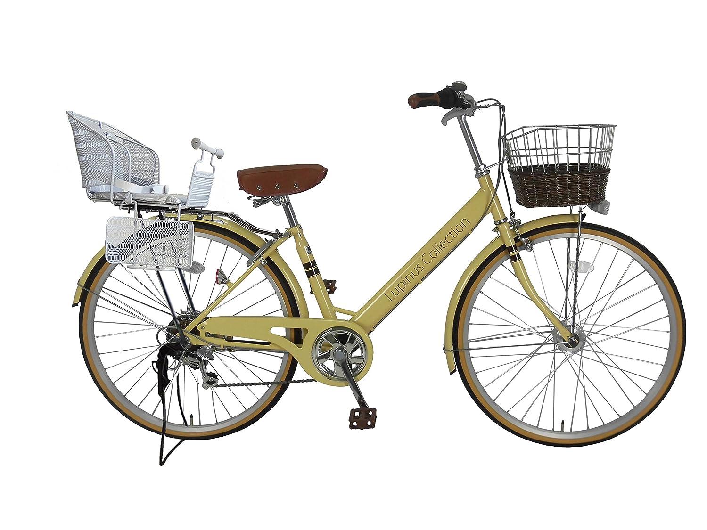 2018新入荷 Lupinusルピナス 自転車 26インチ Lupinusルピナス LP-266VA-KNR-S B0798JFYTR シティサイクル Vフレーム 籐風カゴ オートライト 後子乗せシルバー オートライト アイボリー B0798JFYTR, ジェイエムイーアイ:d2b049b0 --- greaterbayx.co