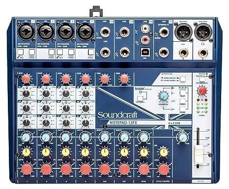Soundcraft Notepad-12FX - Mezclador de mesa de sonido para iglesia ...