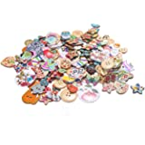 DECORA 200pcs Different Designs Buttons for Crafts Scrapbooking or Sewing