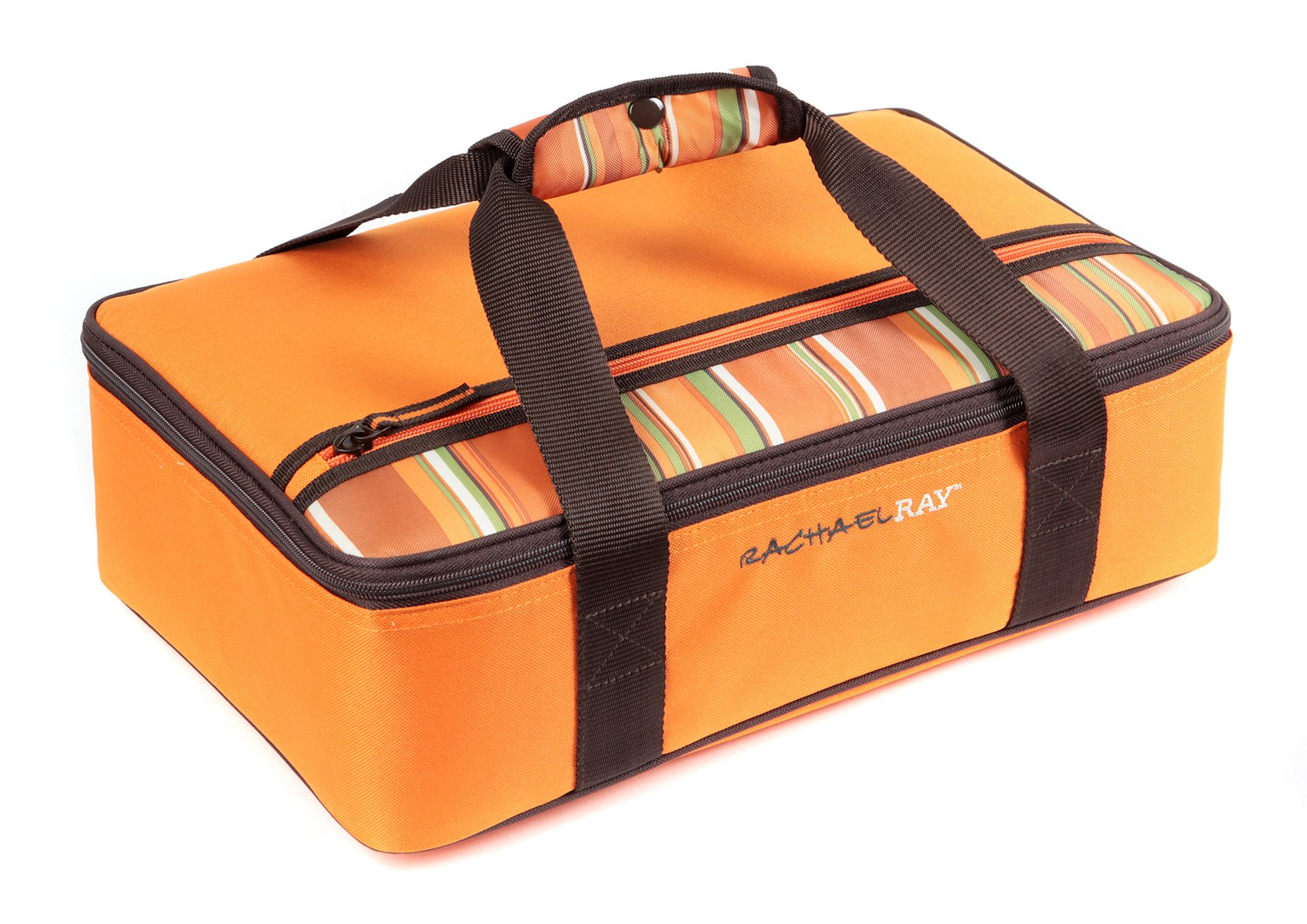 Rachael Ray Lasagna Lugger, Insulated Casserole Carrier for Potluck Parties, Picnics, Tailgates - Fits 9''x13'' Baking Dish, Orange