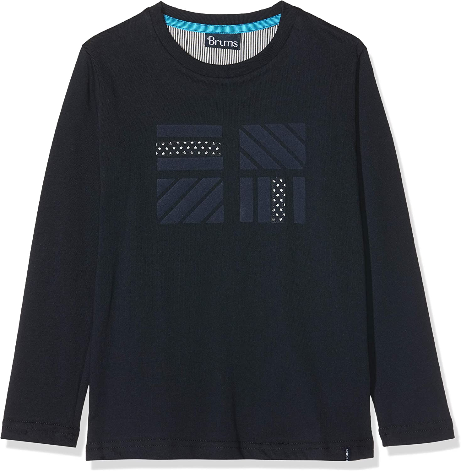 Brums Boys T-Shirt Jersey Stampa E Applicazione Long Sleeve Top