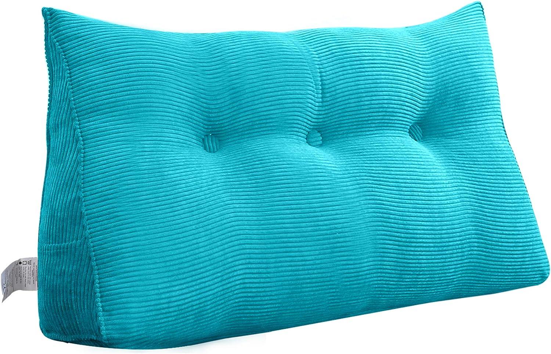 Headboard Triangular Wedge Reading Lumbar Pillow Cotton Backrest Bolster Cushion