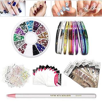 Amazon Professional Nail Art Set 30pcs Colors Rolls Striping