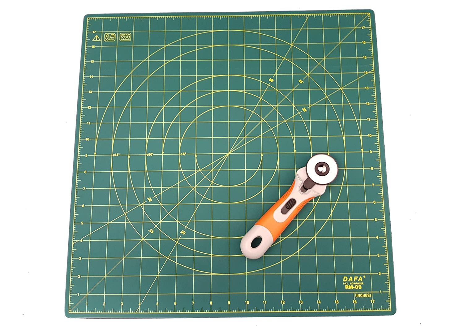 DAFA 360° Rotating Self Healing Cutting Mat 18 x 18 Similar to OLFA