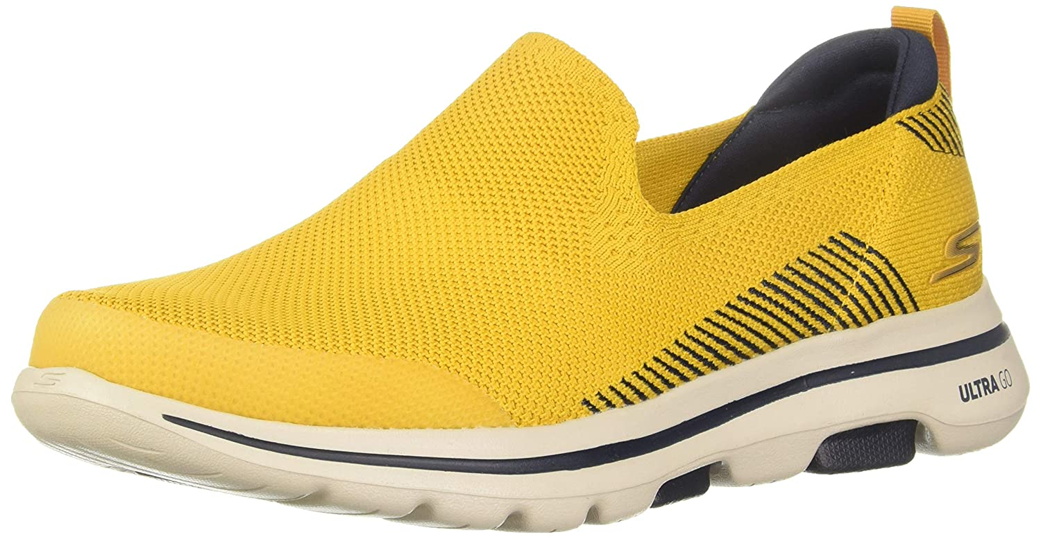 Go Walk 5-Prized Yellow Walking Shoes