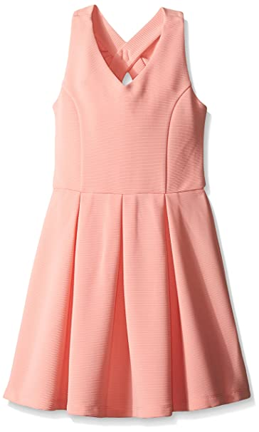 Amazon.com  Zunie Big Girls Sleeveless Textured Knit Skater Dress ... c59ffcca2