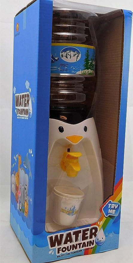 Mini dispensador de agua con forma de pingüino, para 8 vasos de agua
