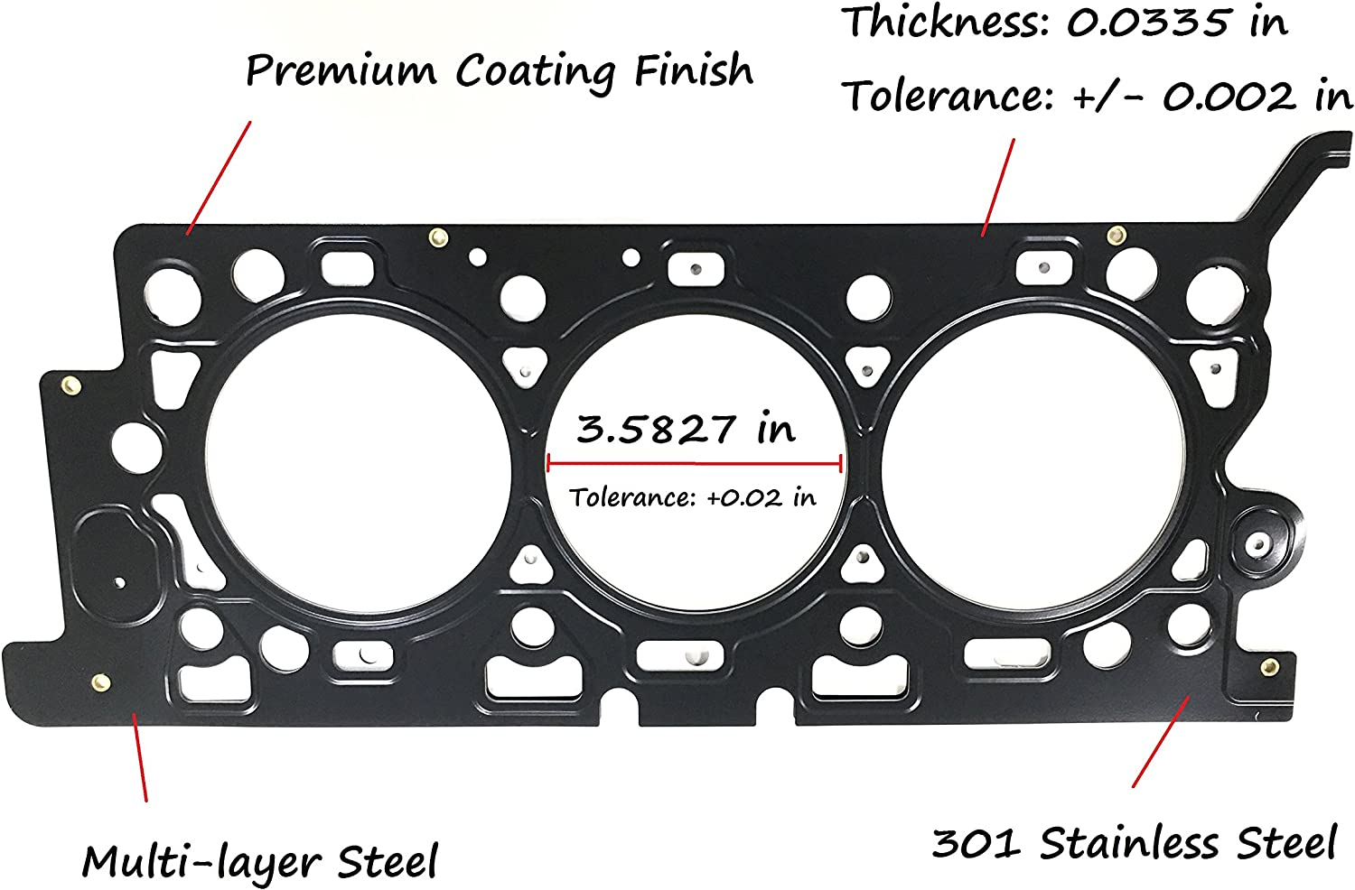 mazda 3 0 v6 engine diagram head casket amazon com eristic eg1040r premium mls cylinder head gasket  premium mls cylinder head gasket