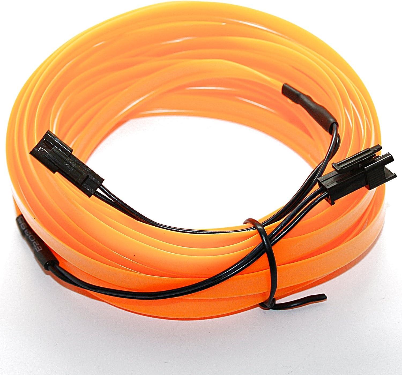Ambientebeleuchtung Neon blau wei/ß 5m EL Lichtleiste 3,59/€//m Orange LED-Mafia