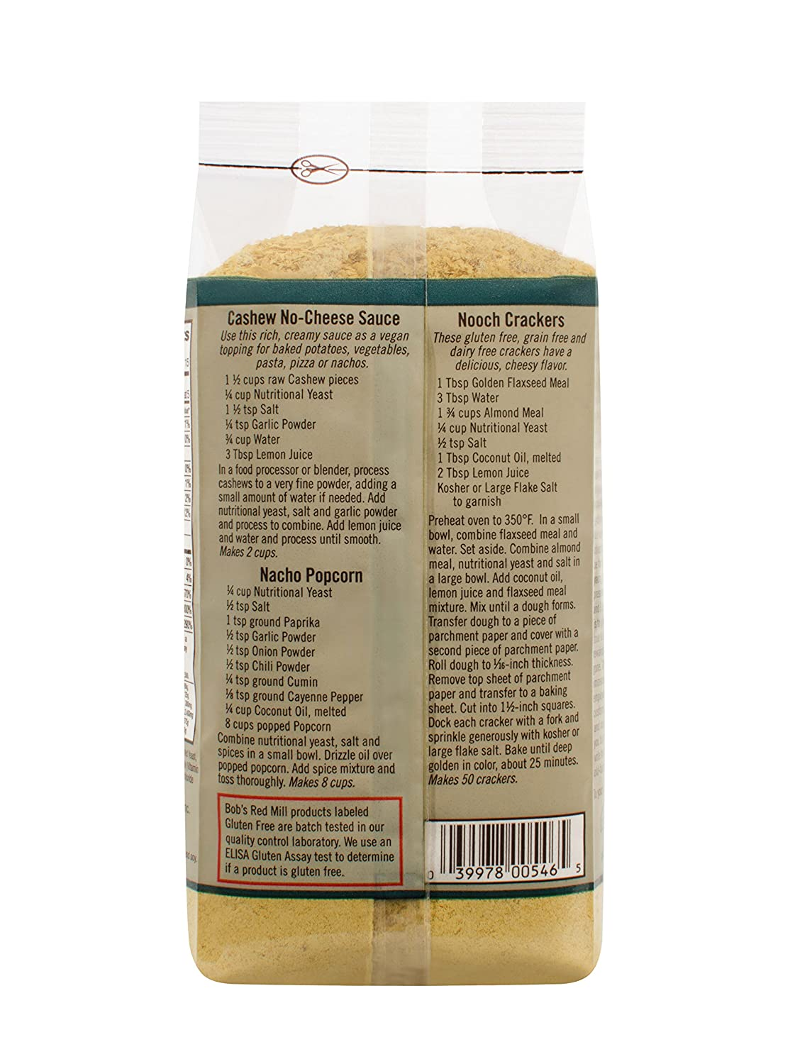 Amazon Com Bob S Red Mill Gluten Free Large Flake Nutritional
