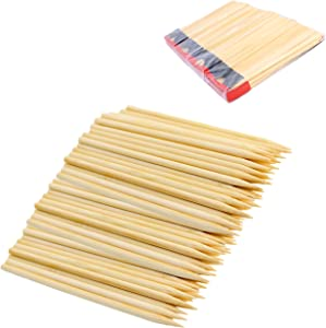 "Chef Craft 21893-4PK Pack of 120 Bamboo Apple Sticks, 6"" Long, 5mm Thick, Silver"