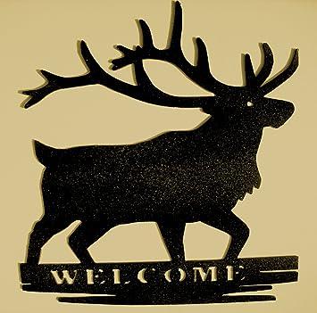 Amazon.com: Deer,Metal Art,Cabin,Northwoods,Lodge,Welcome Sign,Wall ...