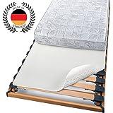 BEAUTECT - Protège matelas - Isolateur pour sommier à lattes - A picots souples - Lavable - Uni - Blanc - 90x200 cm
