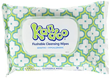 Kandoo Flushable Toddler Wipes 3 PACK 42 ct Sensitive