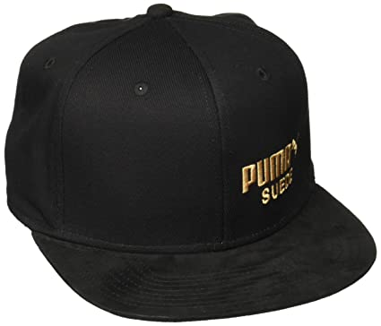 47dfc6a694c Puma Men Caps Snapback Cap Archive Suede Black - 487002 Adjustable ...