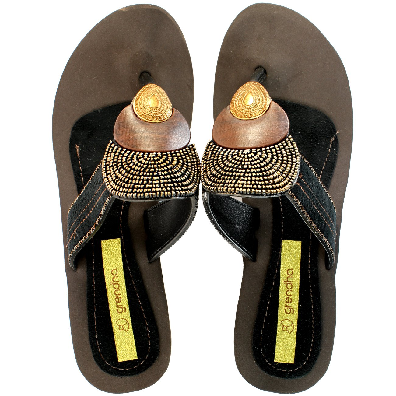 7decd1962f3 Womens Grendha Bangles Wedge Heel Sandals - Black - 11  Amazon.ca  Shoes    Handbags