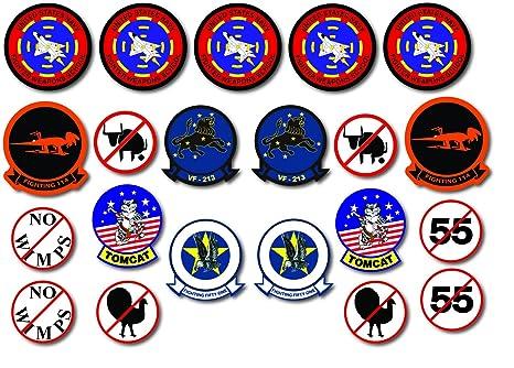 Top Gun Pete Mitchell Kawasaki Gpz Screen Accurate Sticker Set 21 Pvc Stickers Uv Laminated For Long Term Outdoor Applications