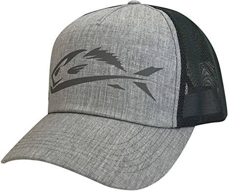 28c0e57a81711e Image Unavailable. Image not available for. Color: Field & Stream Men's  Heather Grey Fish Icon Trucker Hat ...