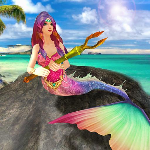 (Mermaid Simulator 3D - Sea Animal Attack Games)