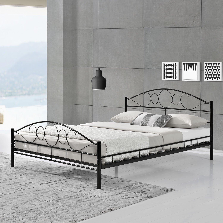 metallbett wei 140 200. Black Bedroom Furniture Sets. Home Design Ideas