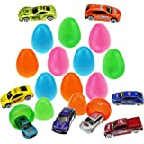 12 Die-Cast Car Filled Big Easter Eggs with Different Die-cast Cars