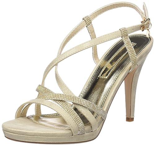 XTI 30695 Sandali con Cinturino alla Caviglia Donna Oro Gold 39 EU