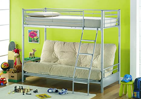 High Sleeper + 3 plazas futón + opcional colchones, negro, High Sleeper + Futon