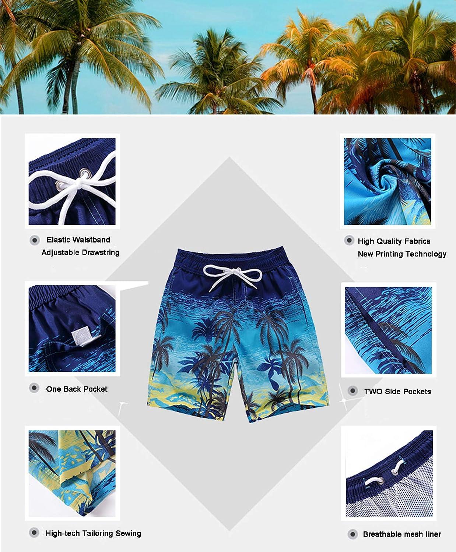 Coralup Short de bain et plage pour enfant Taille r/églable S/échage rapide Respirant de 3 /à 14 ans Board short