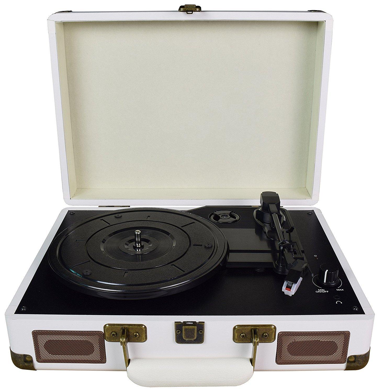 DIGITNOW! tocadiscos estéreo de velocidades con altavoces incorporados estéreo  rpm color