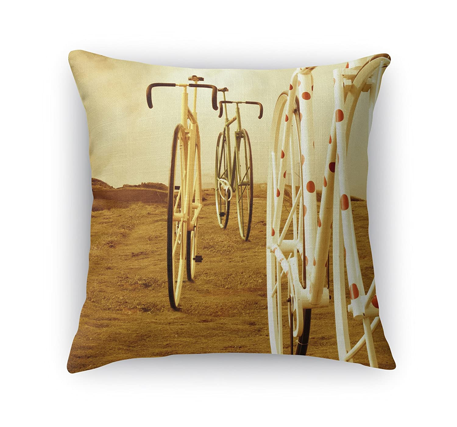 KAVKA Designs Ride On Accent Pillow, (Brown/Tan/Red/Ivory) - Heartland Collection, Size: 16X16X6 - (BOBAVC067DI16)