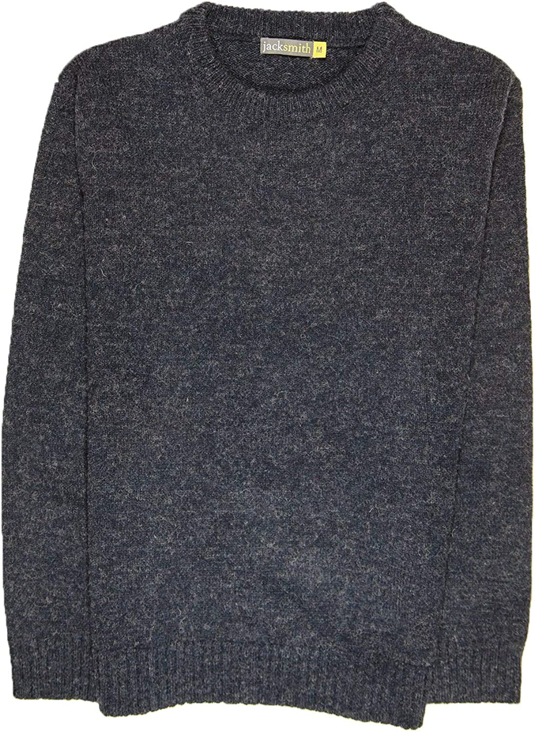 Boutique Retailer Mens Shetland Wool Crew Neck Cardigan Sweater Knitted Jumper Pullover