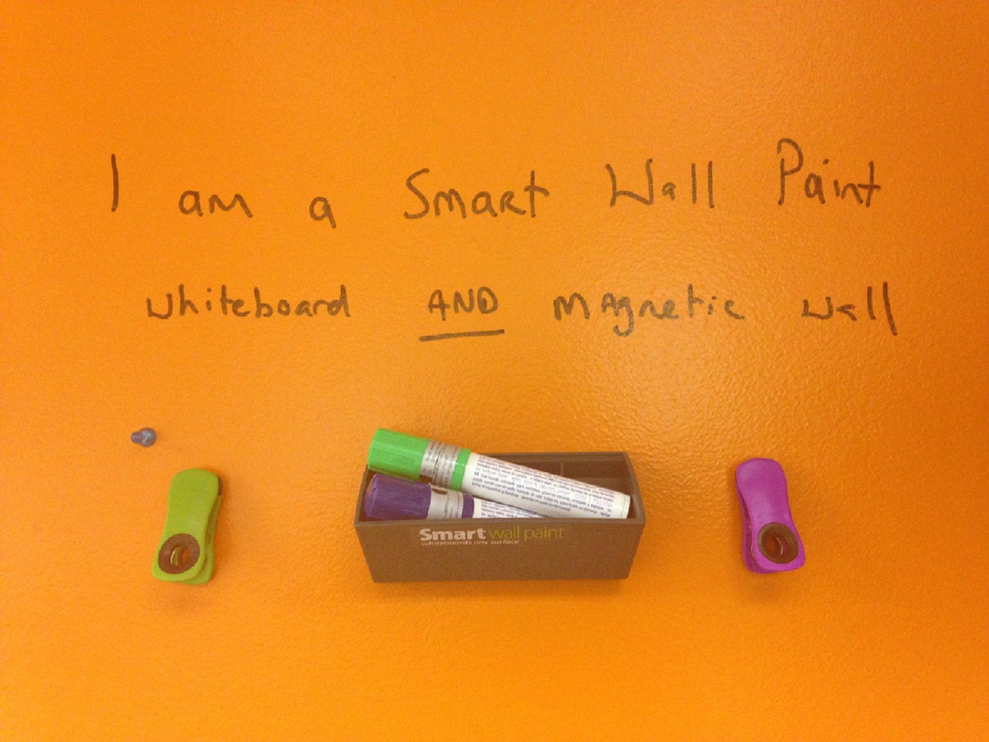 Magnetic Dry-Erase Paint Kit: 194sq. ft. / 18m² White