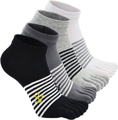 Calcetines de 5 Dedos para Hombres para Deportes Ciclismo Correr, Hombre Calcetines del dedo del pie, Calcetines Dedos de Pies Separados (Multicolor-4 pares): Amazon.es: Ropa y accesorios