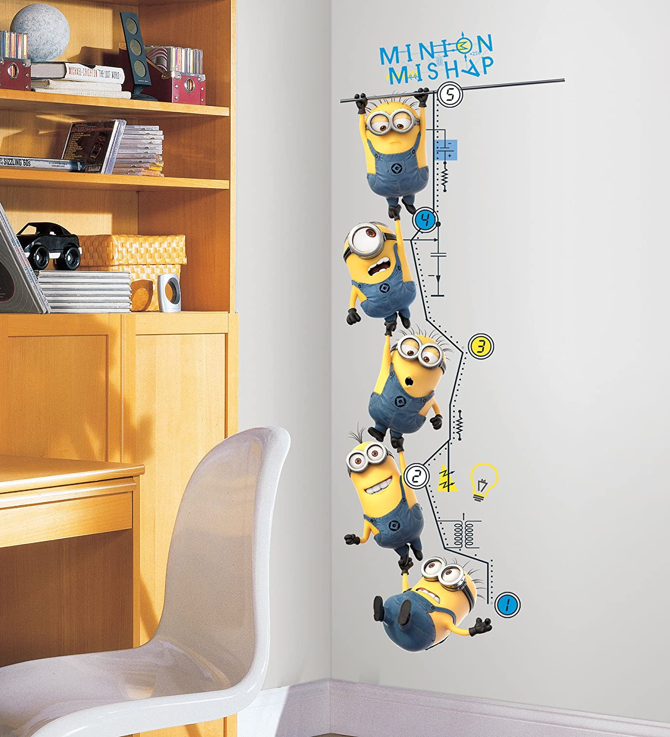 Roommates rmk2107gc despicable me 2 growth chart peel and stick wall roommates rmk2107gc despicable me 2 growth chart peel and stick wall decals wall decor stickers amazon geenschuldenfo Image collections