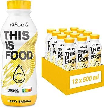 YFood Banana | Batido Sustitutivo | Sustitutivo de comida sin lactosa ni gluten | 33g de proteínas, 26 vitaminas y minerales | 25% de las calorías ...